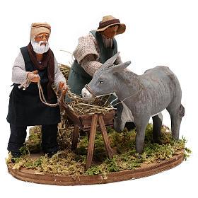 Moving farrier with farmers 12 cm for Neapolitan nativity scene s4