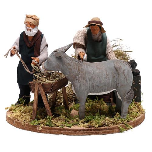 Moving farrier with farmers 12 cm for Neapolitan nativity scene 1