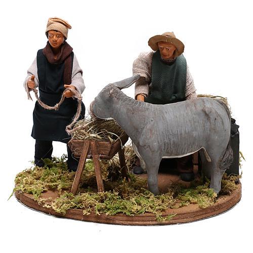 Moving farrier with farmers 12 cm for Neapolitan nativity scene 3
