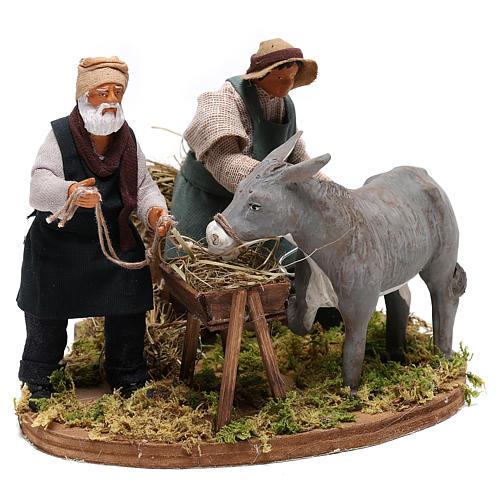 Moving farrier with farmers 12 cm for Neapolitan nativity scene 4