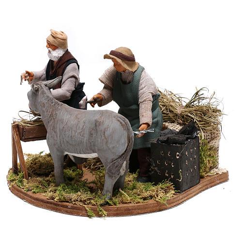 Moving farrier with farmers 12 cm for Neapolitan nativity scene 6
