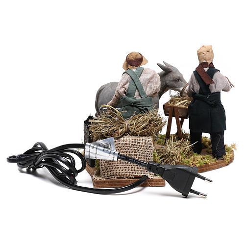 Moving farrier with farmers 12 cm for Neapolitan nativity scene 7