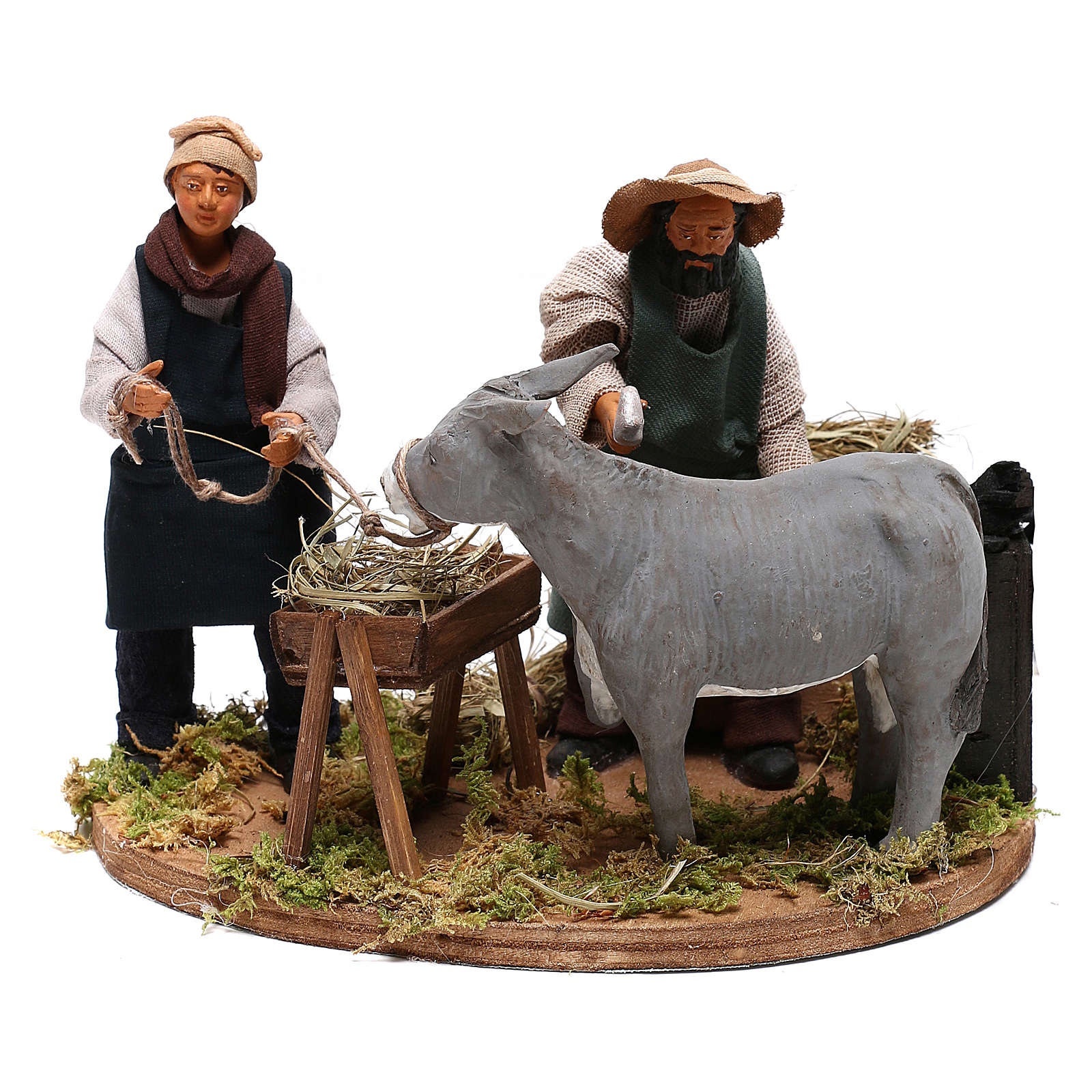 Escena movimiento herrero campesinos 12 cm belén napolitano 4