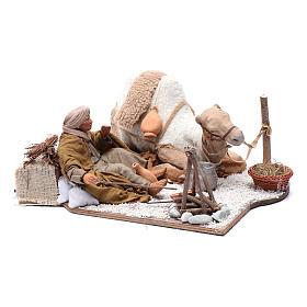 Escena en movimiento pastor con camello pesebre napolitano 24 cm s3