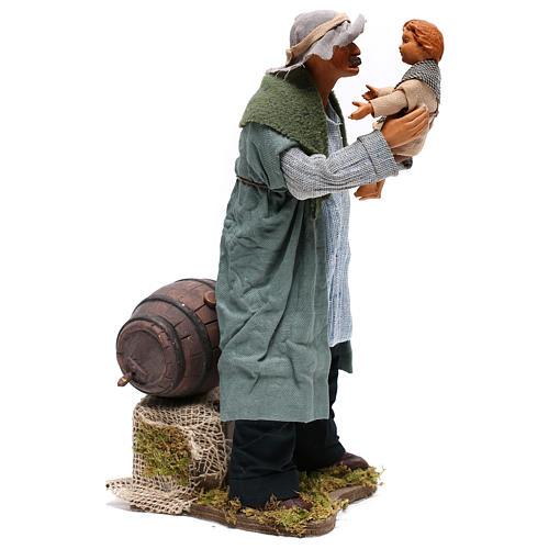 Man lifting child 24 cm for Neapolitan nativity scene 5