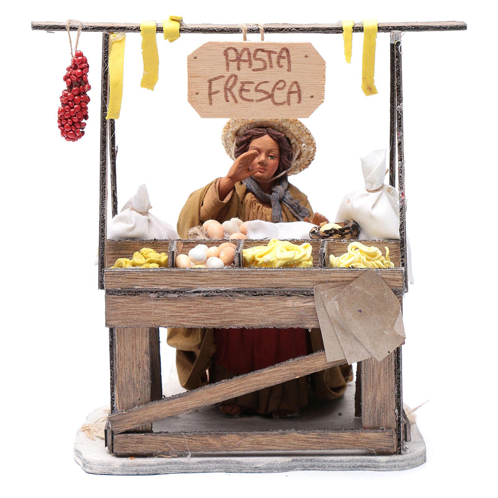 Fresh pasta seller 24 cm for Neapolitan nativity scene 4