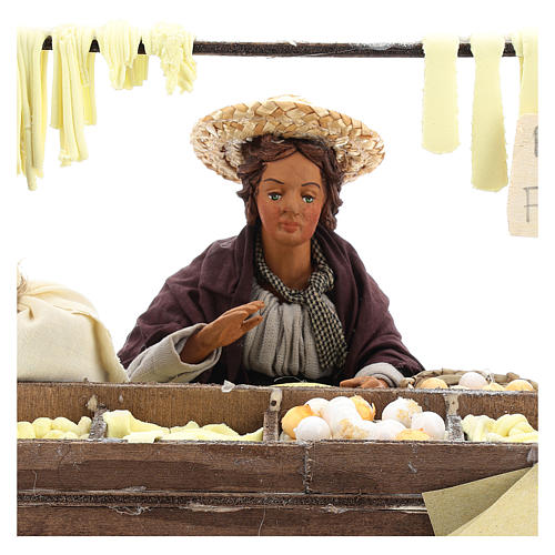 Fresh pasta seller 24 cm for Neapolitan nativity scene 2