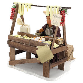 Escena en movimiento vendedora pasta fresca pesebre napolitano 24 cm s3