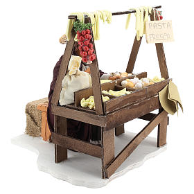 Escena en movimiento vendedora pasta fresca pesebre napolitano 24 cm s4
