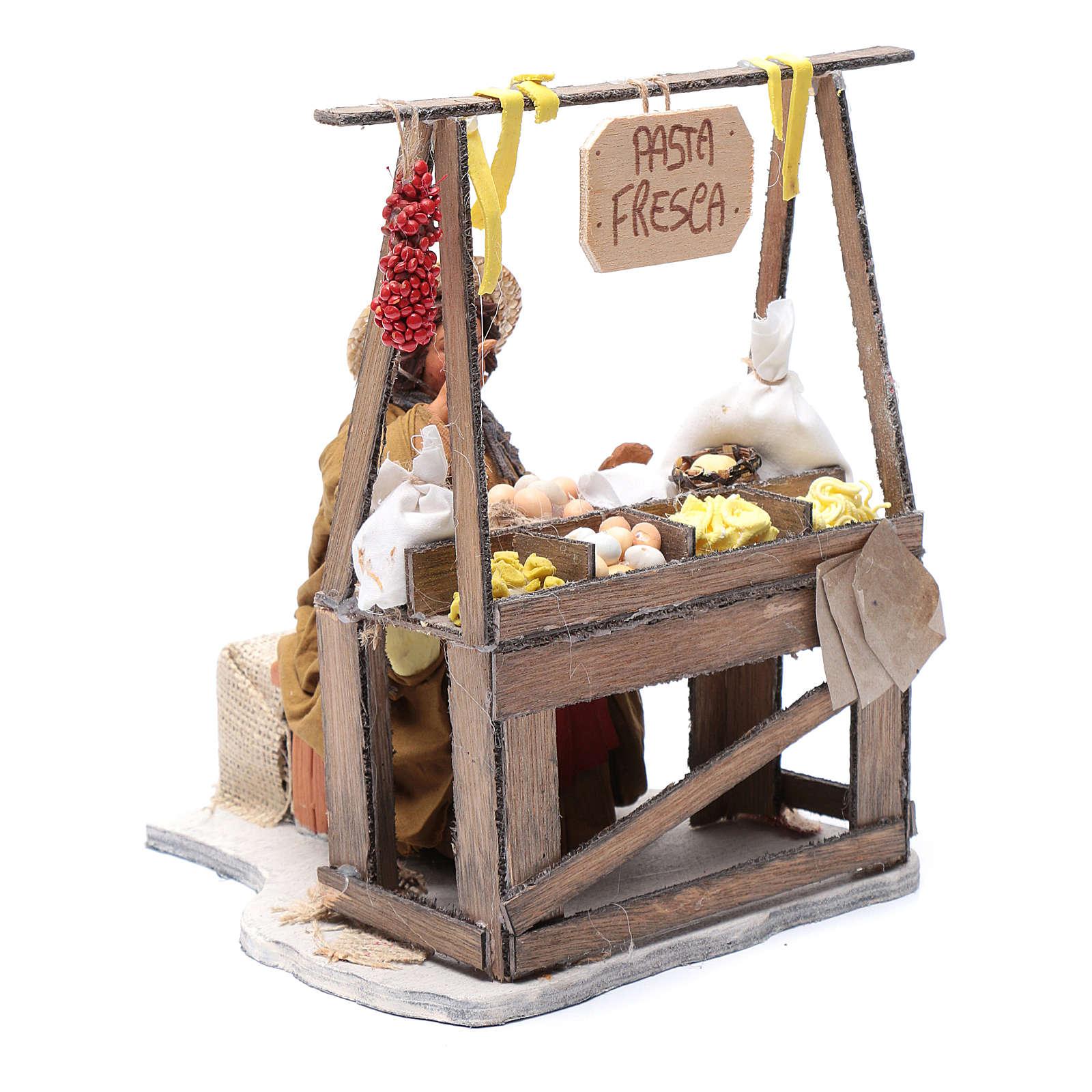 Venditrice pasta fresca al banco 24 cm presepe Napoli 4