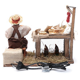 Egg seller sitting with movement 24 cm for Neapolitan nativity scene s4