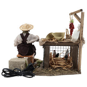 Egg seller sitting with movement 24 cm for Neapolitan nativity scene s9