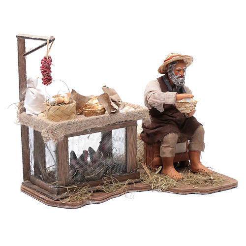Egg seller sitting with movement 24 cm for Neapolitan nativity scene 3