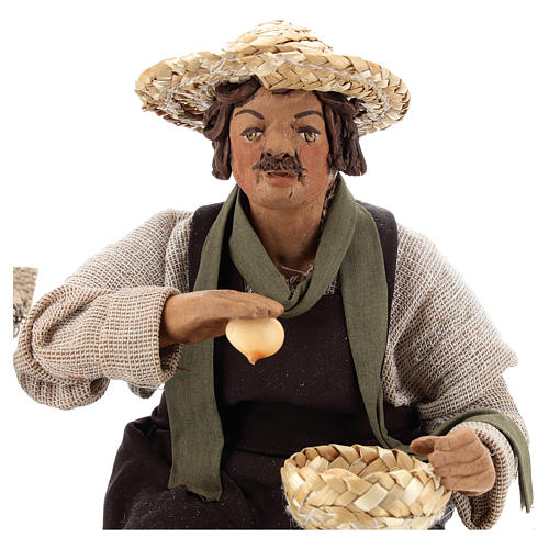 Egg seller sitting with movement 24 cm for Neapolitan nativity scene 6