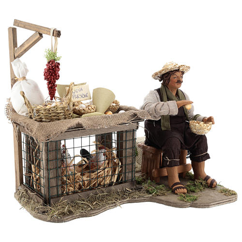 Egg seller sitting with movement 24 cm for Neapolitan nativity scene 8