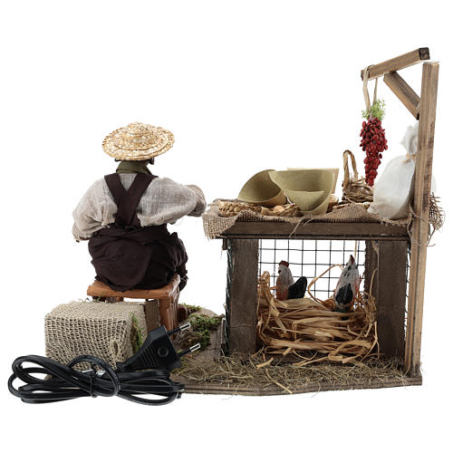 Egg seller sitting with movement 24 cm for Neapolitan nativity scene 9