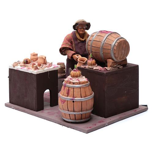 Wine seller with barrel 24 cm for Neapolitan nativity scene 2
