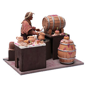 Comerciante de vino con barriles 24 cm pesebre Nápoles s3