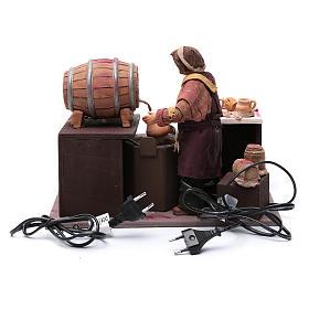 Comerciante de vino con barriles 24 cm pesebre Nápoles s4