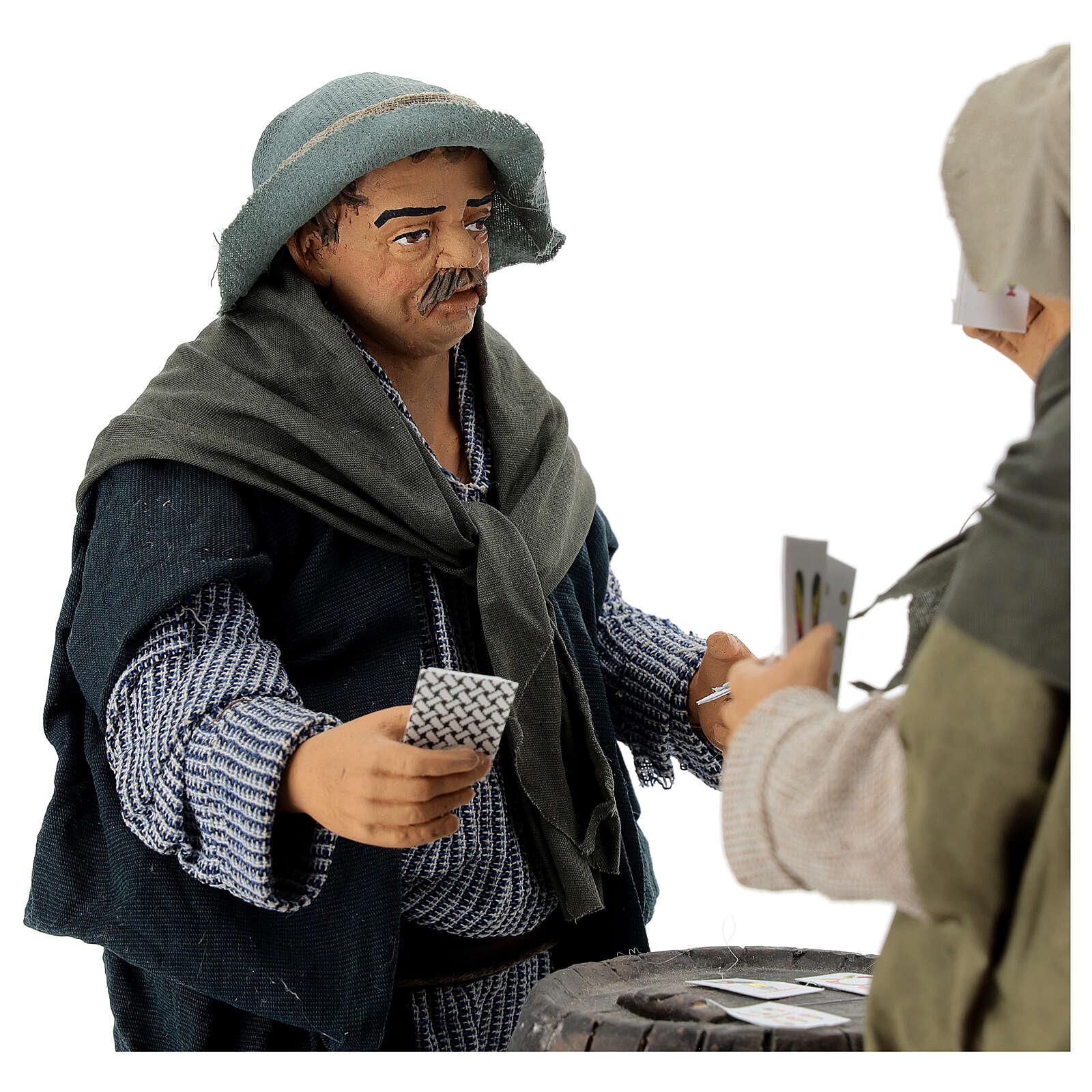 Animated sStanding Card Players 30 cm Neapolitan Nativity 4
