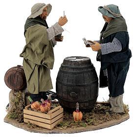Neapolitan Nativity Scene: Animated sStanding Card Players 30 cm Neapolitan Nativity