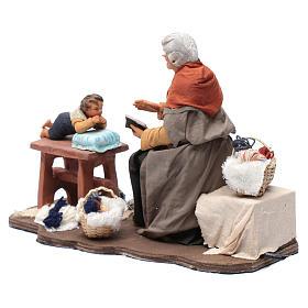 Nonna racconta storie movimento 30 cm presepe Napoli s3