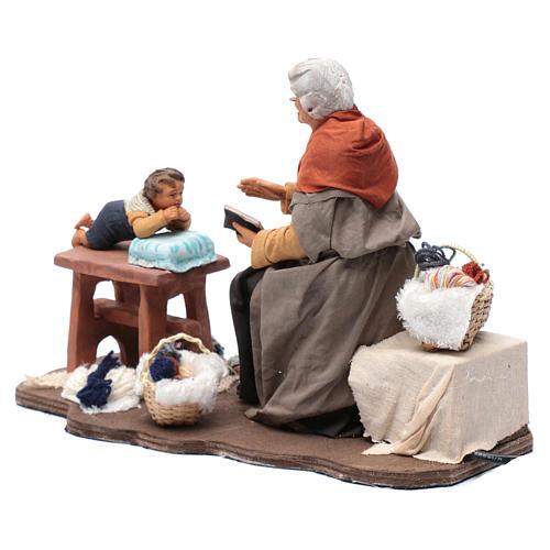 Nonna racconta storie movimento 30 cm presepe Napoli 3