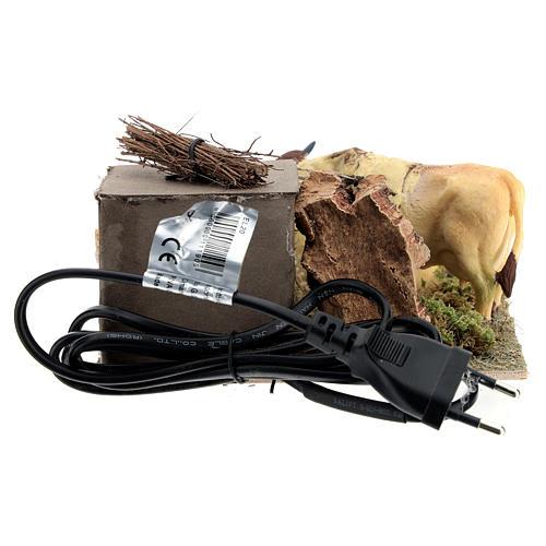 Vaches en mouvement ballots de foin crèche de Naples 12 cm 8