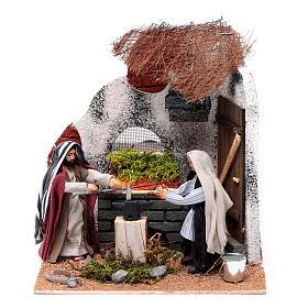 Neapolitan nativity scene moving blacksmith 10 cm s1