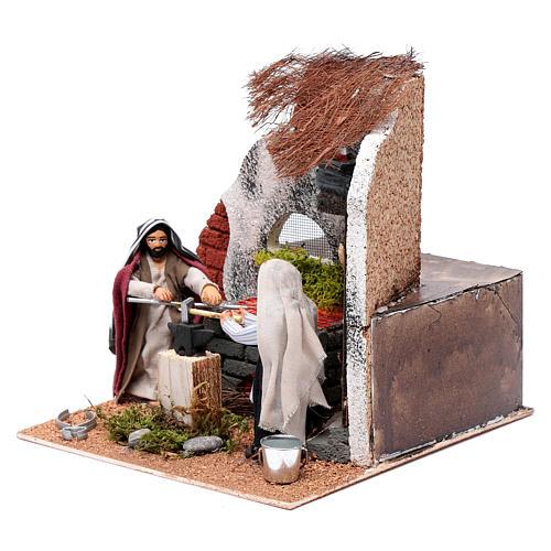 Neapolitan nativity scene moving blacksmith 10 cm 2