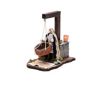 Neapolitan nativity scene moving woman sifting  14 cm s1
