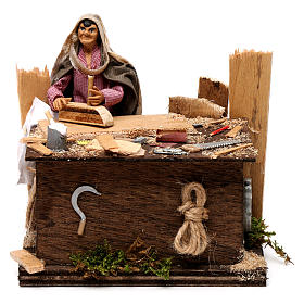 Neapolitan nativity scene woodcutter with movement 12 cm s1