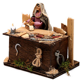 Neapolitan nativity scene woodcutter with movement 12 cm s2