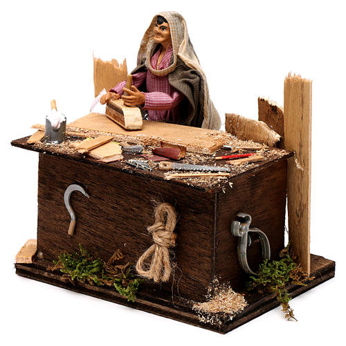 Neapolitan nativity scene woodcutter with movement 12 cm 2