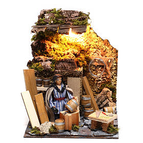 Neapolitan nativity scene moving statue barrel builder 12 cm s1