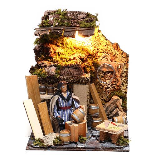 Neapolitan nativity scene moving statue barrel builder 12 cm 1