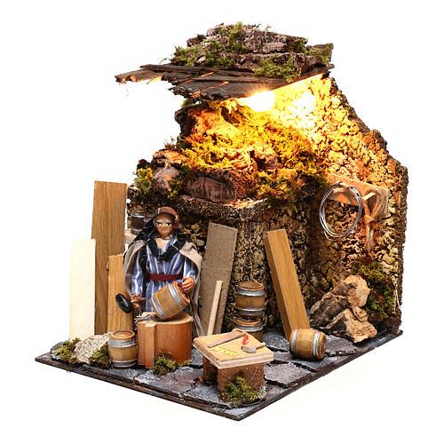 Neapolitan nativity scene moving statue barrel builder 12 cm 2
