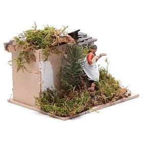 Piekarz przy piecu z ogniem 10 cm ruchoma figurka Moranduzzo styl neapolitański s3
