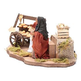 Venditrice di pane movimento 10 cm presepe napoletano s2