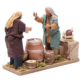 Neapolitan nativity scene card players 14 cm s3