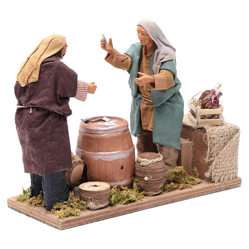 Neapolitan nativity scene card players 14 cm 3
