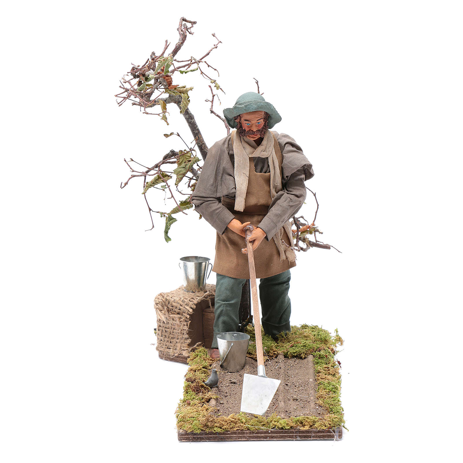 Neapolitan nativity scene farmer 24 cm 4