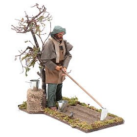 Neapolitan nativity scene farmer 24 cm s3