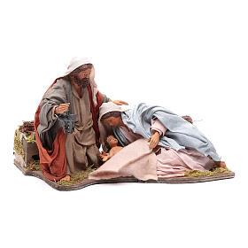 Presépio Napolitano: Natividade deitada movimento 24 cm presépio napolitano