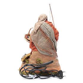 Pescatore su scoglio movimento 30 cm presepe napoletano s4