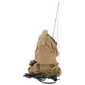Pescatore su scoglio movimento 30 cm presepe napoletano s5