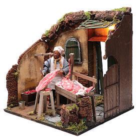 Neapolitan nativity scene butcher with meat 24 cm s2