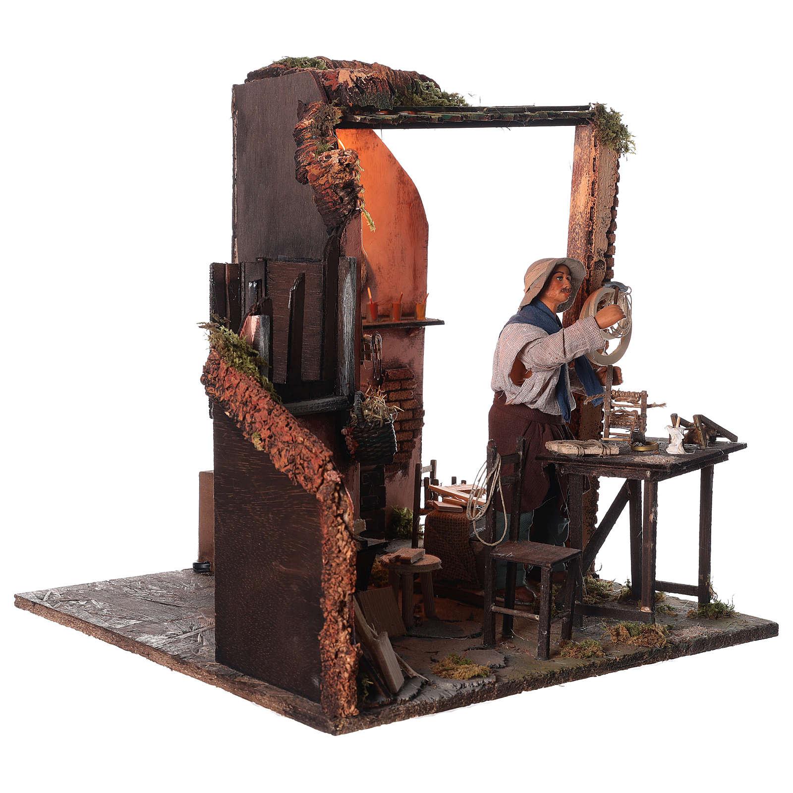 Neapolitan nativity scene moving carpenter 24 cm 4