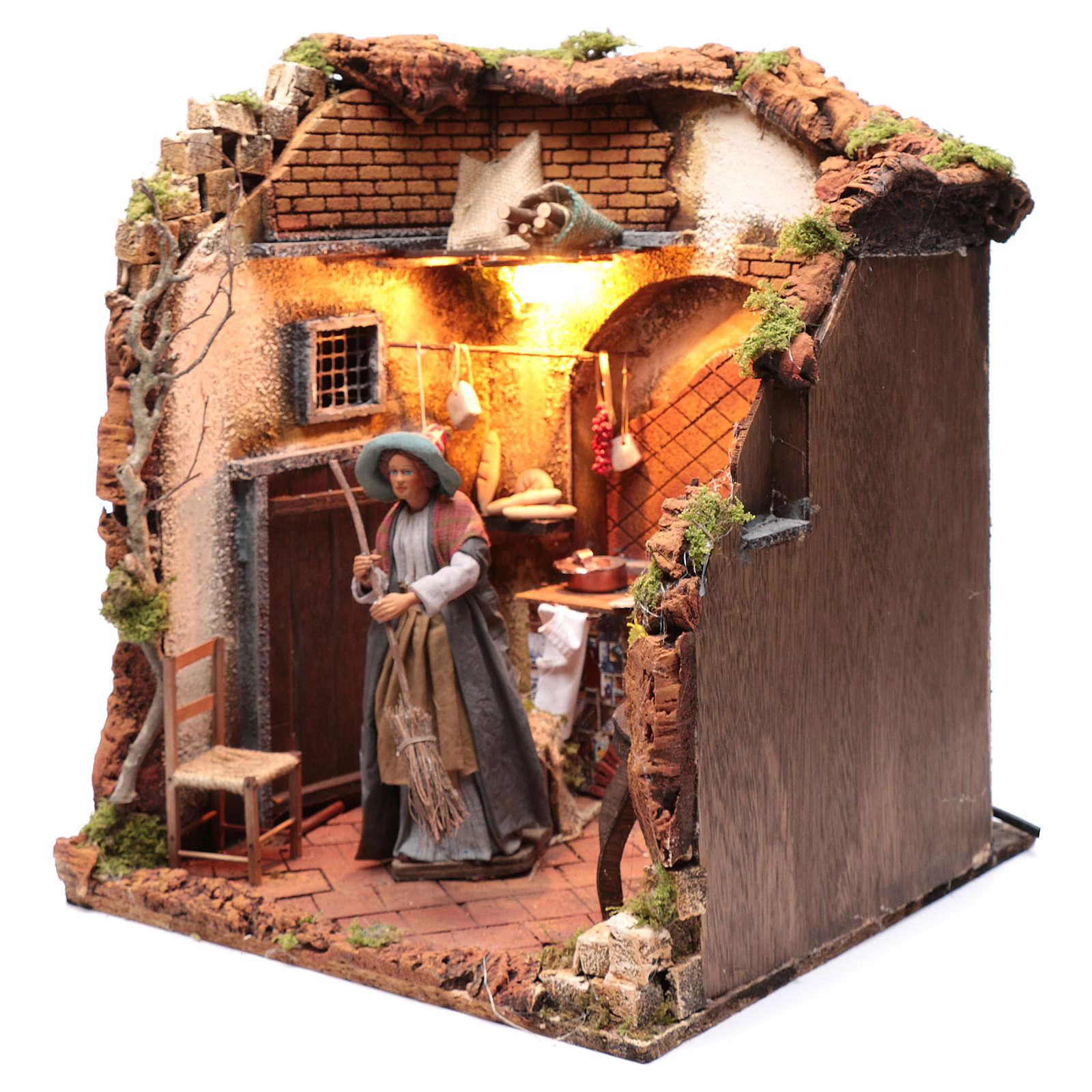 Neapolitan nativity scene moving housewife 24 cm 4
