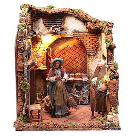 Neapolitan nativity scene moving housewife 24 cm s1